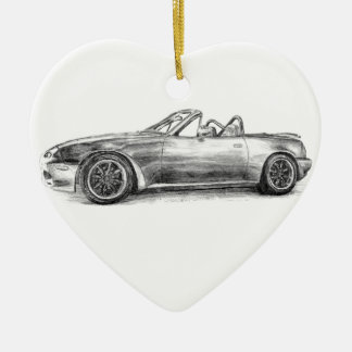 Silver Shadow MX5 Ceramic Heart Decoration