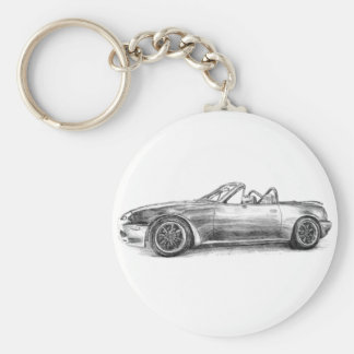 Silver Shadow MX5 Key Ring