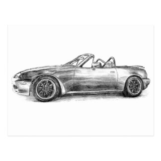 Silver Shadow MX5 Postcard