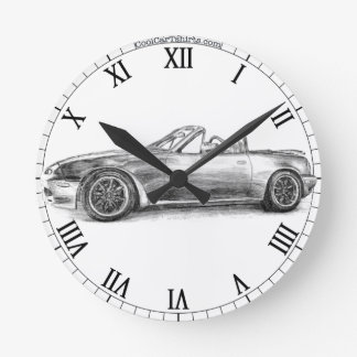 Silver Shadow MX5 Round Clock