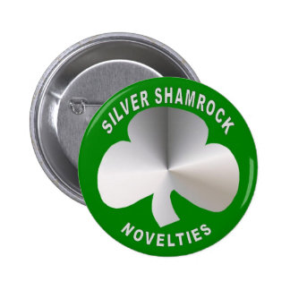 Silver Shamrock Novelties Button