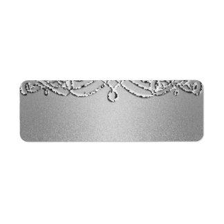 Silver Shimmer Glitter Template Background