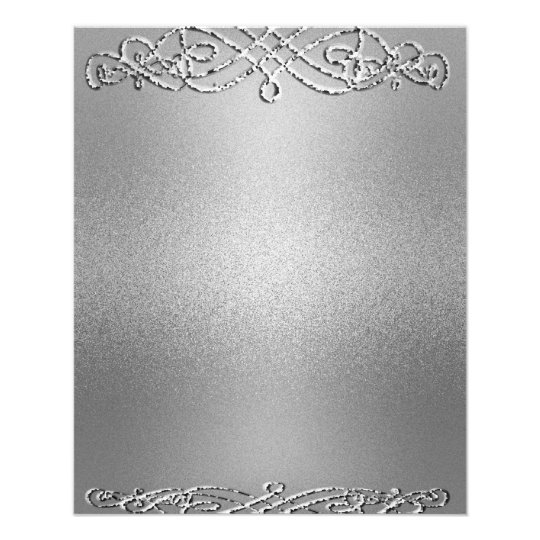 Silver Shimmer Glitter Template Background 11.5 Cm X