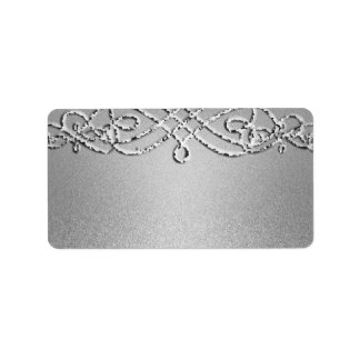 Silver Shimmer Glitter Template Background Label
