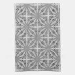 Silver Shine GeoSquare Pattern Kitchen Tea Cloth