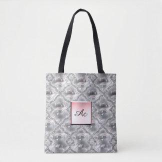 Silver Shinny Tote Bag
