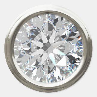 Silver Shiny Diamond Envelope Seal