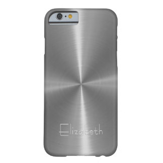 Silver Shiny Steel Metal Barely There iPhone 6 Case