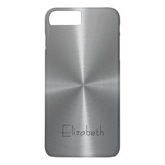 Silver Shiny Steel Metal iPhone 7 Plus Case