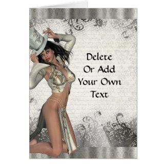 Silver showgirl card