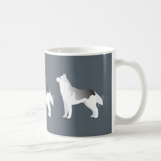 Silver Siberian Husky Basic Breed Customizable Coffee Mug