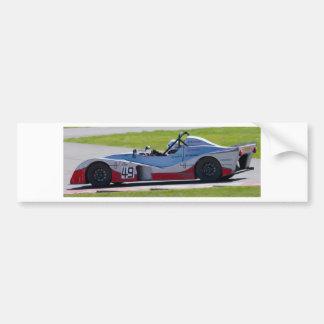 Silver single seater race car bumper sticker