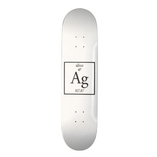 Silver Skate Deck