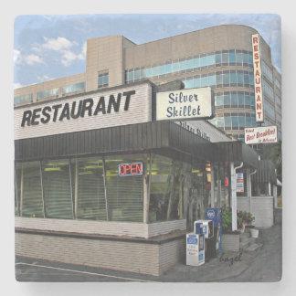 Silver Skillet Atlanta Landmark Marble Stone Coast Stone Beverage Coaster