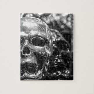 Silver Skull Jigsaw Puzzle