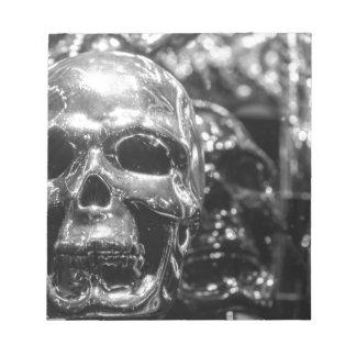 Silver Skull Notepad