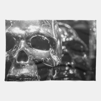 Silver Skull Tea Towel
