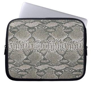 Silver Snake Skin Laptop Sleeve