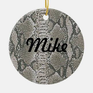 Silver Snake Skin Name Ornament