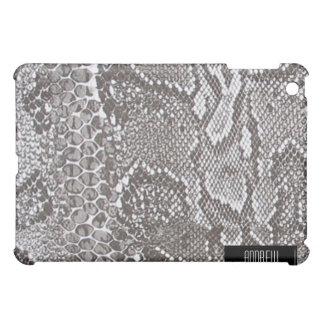 Silver Snakeskin Skin iPad iPad Mini Case