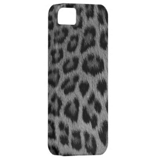 Silver Snow Leopard Print iPhone 5 Case