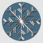 Silver Snowflake 6 - Holiday  stickers