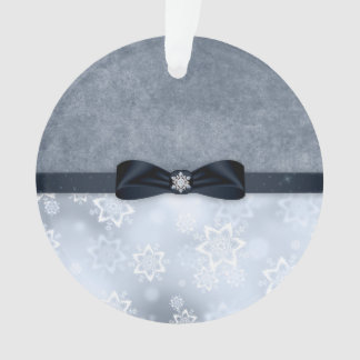Silver Snowflake Christmas Ornament
