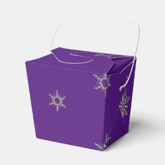 Silver Snowflake Favour Box