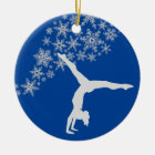 Silver Snowflake Gymnast Personalised Christmas Ornament