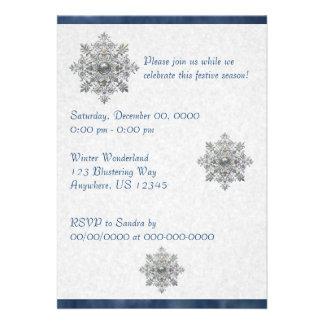 Silver Snowflake Invitation