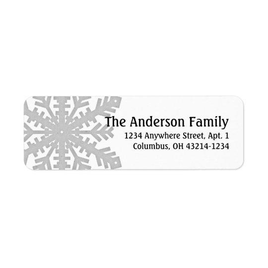 Silver Snowflake :: Return Address Labels