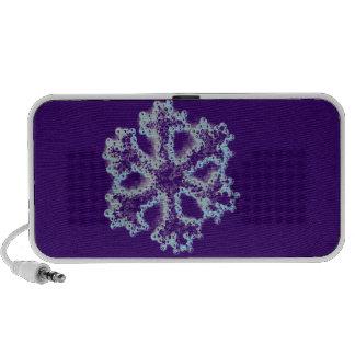 Silver Snowflake Laptop Speakers