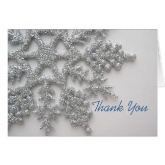 Silver Snowflake Thank You Card