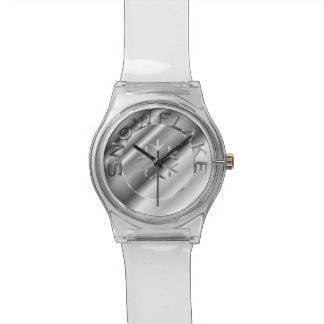 Silver Snowflake Wristwatch