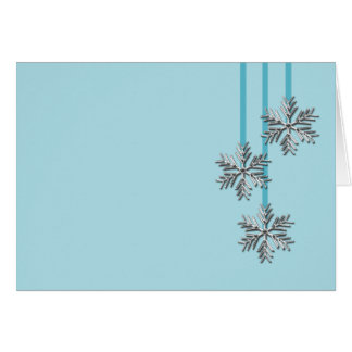 Silver Snowflakes Holiday Event And Wedding Invite Greeting Cards