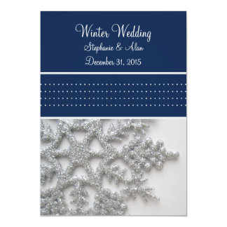 Silver Snowflakes Wedding Invitation