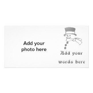 Silver snowman photo cards