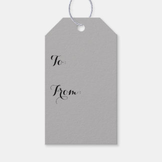 Silver Solid Color Gift Tags