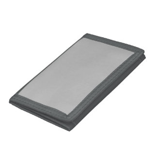 Silver Solid Color Trifold Wallets