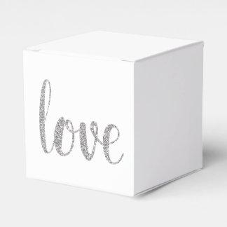 Silver sparkle favor boxes favour boxes