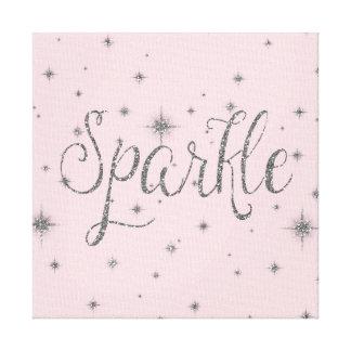 Silver Sparkles Canvas Prints