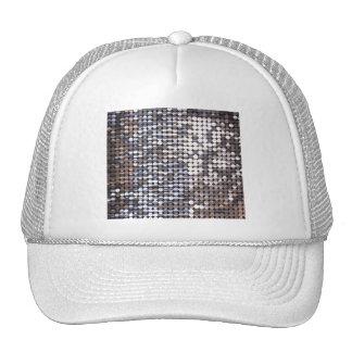 Silver Sparkling Sequin Look Cap