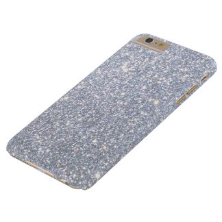 Silver Sparkly Metallic Shimmering Glitter Barely There iPhone 6 Plus Case