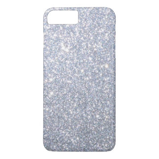 Silver Sparkly Metallic Shimmering Glitter iPhone 8 Plus/7 Plus Case