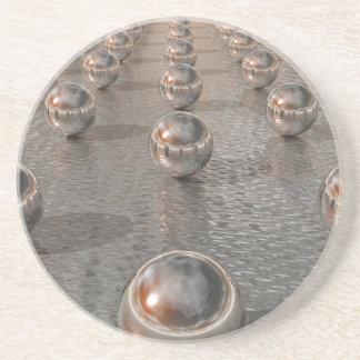 Silver Spheres Beverage Coasters