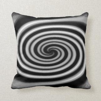 silver spiral pillow