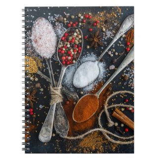 Silver Spoons & Spices Spiral Notebook