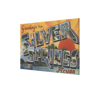 Silver Springs, Florida - Large Letter Scenes 2 Canvas Print