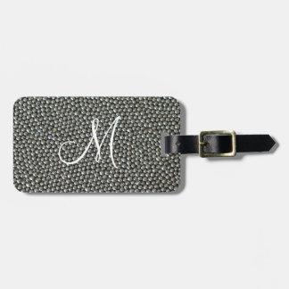 Silver Sprinkles Monogram Luggage Tag