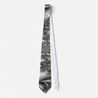 Silver Square Spiral Tie